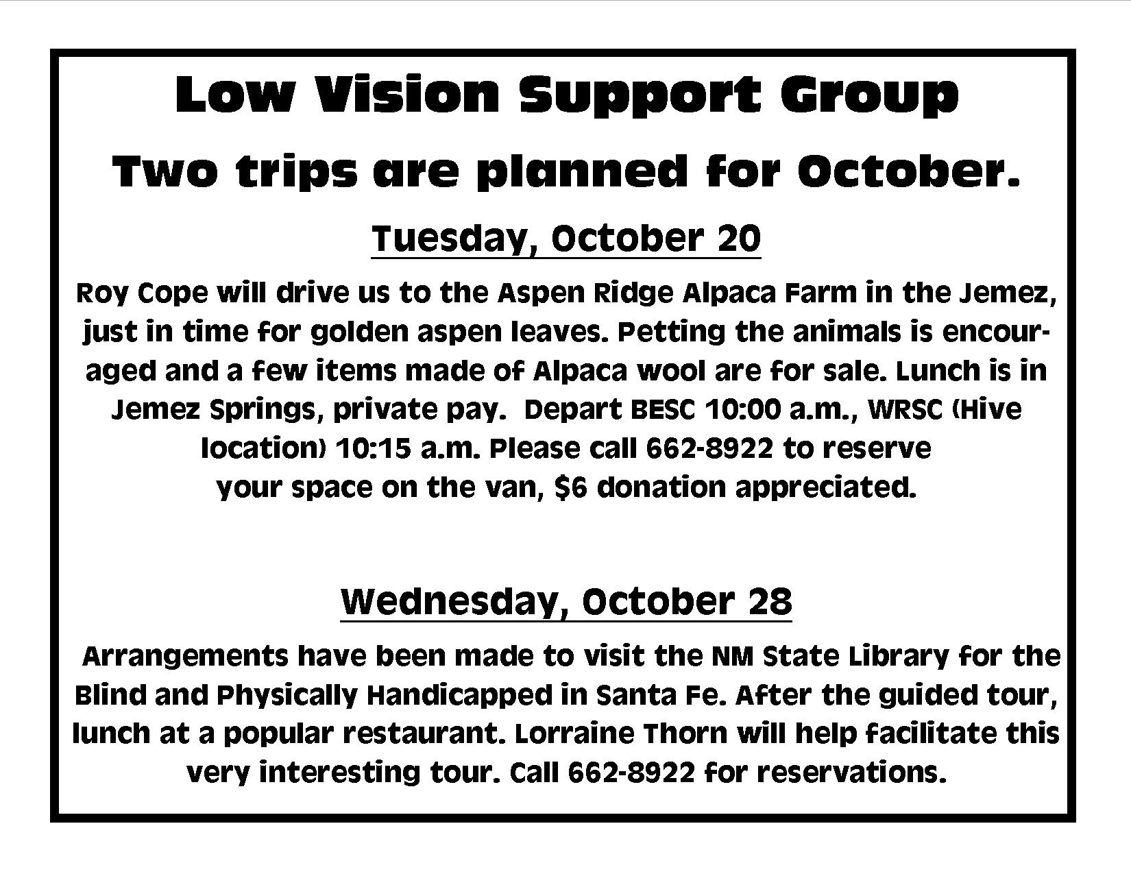 Vision Group Support 68