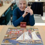 Corky and her latest puzzle